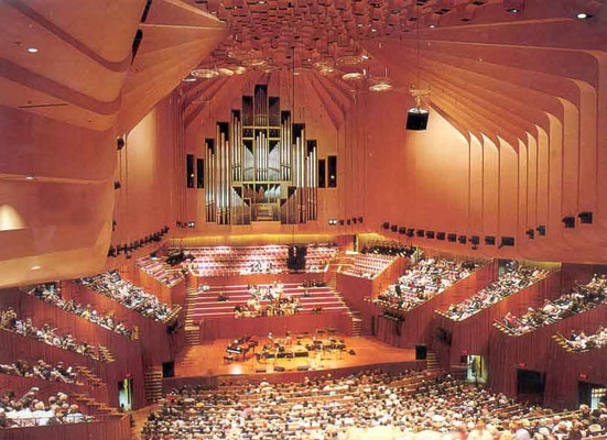 Inside the main concert hall - Sydney Opera House