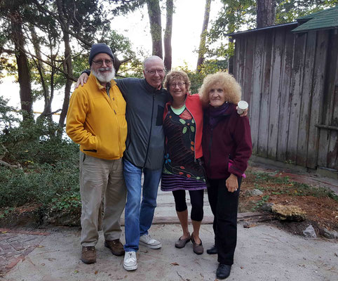 2017 ; Meher Center, Myrtle Beach, SC. Ken, Betty , Katie with Arthur Kimball. Photo taken by Anthony Zois