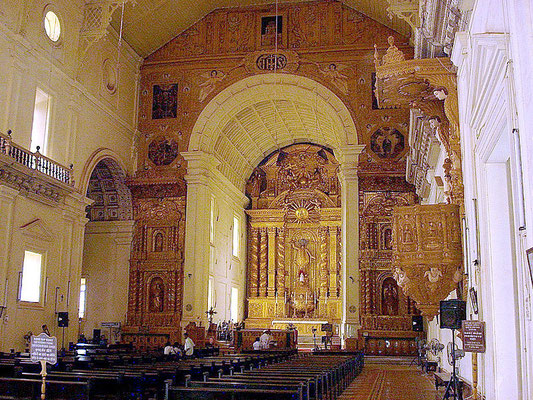 Interior view towards altar