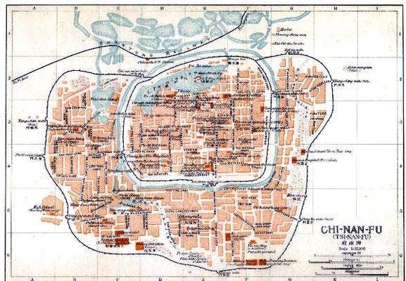 Tsinan Town map