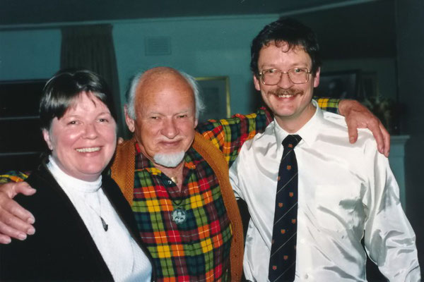 Cynthia Borg-Adams, Le Buchanan & George Fricker. Photo taken by Jim Miskia