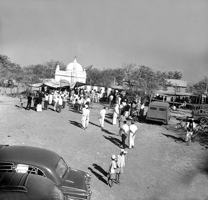 A view from the museum probably taken during the the Entombment in early February, 1969. Courtesy of  Sriramamoorthy Collection & AMBCCPT.