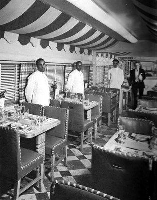 1930s ; Golden State dining carriage