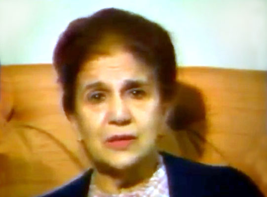 "Still of Anita taken from the video ""Meher Baba in France"" - 1989"