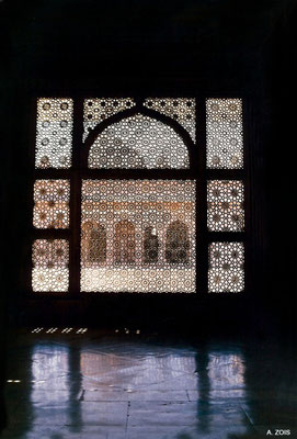 Salim Christi's Tomb - screen detail at dusk