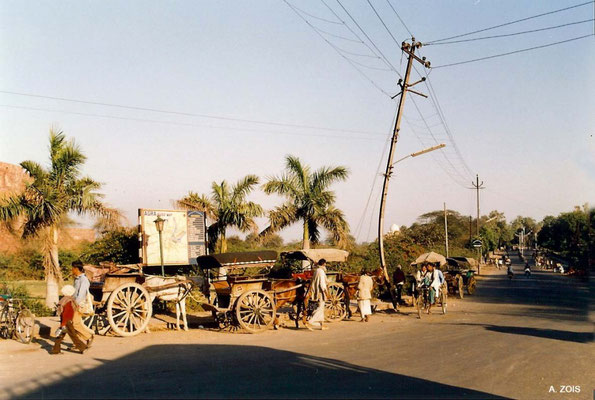 Photo taken by Anthony Zois 1988 - Agra - Taj Mahal in distant