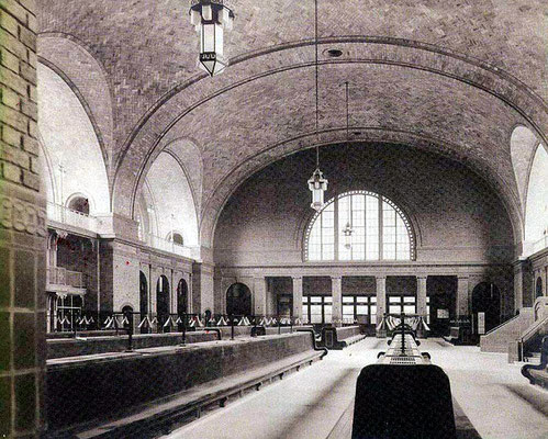 Interior of the railway station