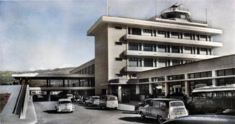 1950s : Beirut Airport. Image colourized by Anthony Zois.