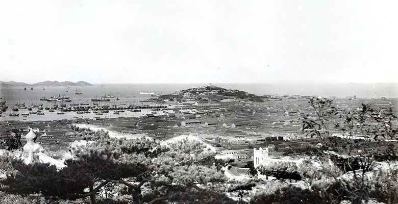 Chefoo - from Temple Hill - 1900