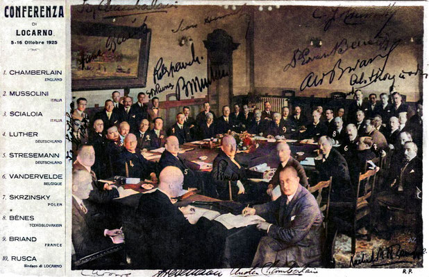 Locarno Conference in 1925 in Locarno.  Image Colourized by Anthony Zois.