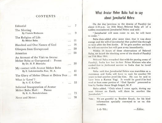 May 1964 - Index  and first page