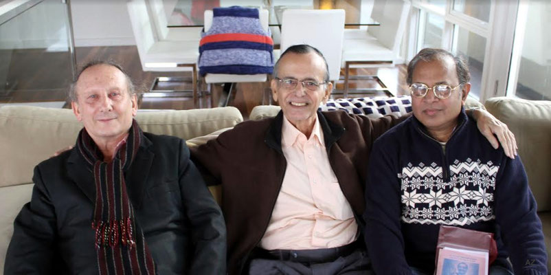 June 2014 - Melbourne, Australia. Meherwan with Jim Miskia ( left ) & Jayasurya Rangisetty . Photo taken by Anthony Zois