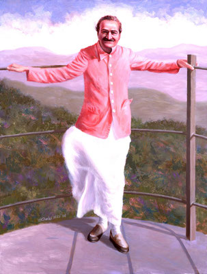 "1998 -#4 ; Mahableshwar - Oil - 52""x40"" - Courtesy of Michael Rosenberg  & Leslie Wright"