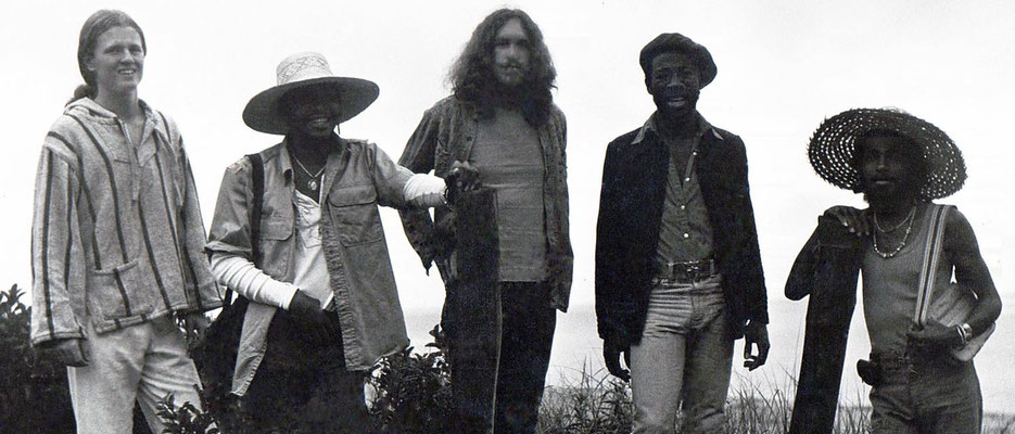 18. Cliff with Robin Armstrong, Shecky Tom Davis, Winston Gardner and Kwame Heshimu