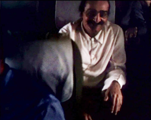 Meher Baba flying from Newark, NY to Wilmington NC., on this plane. Image captured from a film by Anthony Zois