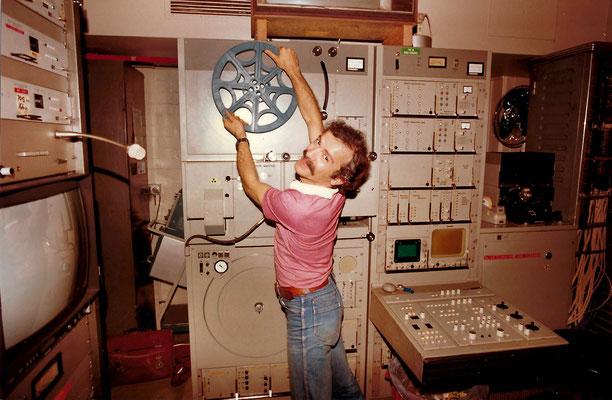 1980s ; Telecine department TCN9 Sydney, Australia.