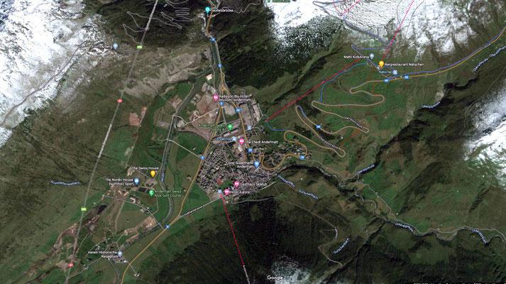 Andermatt Map 2 - aerial view