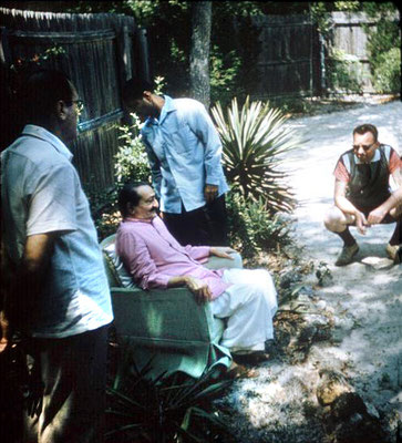1958 - Meher Baba the Meher Abode compound. Image captured by Anthony Zois from a film.