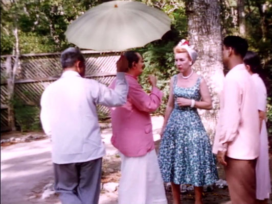 1956 ; Meher Center, Myrtle Beach, SC. 1956 ; Baba instructing Marion who was the organizer for his visit. The images were captured by Anthony Zois from a film by Sufism Reoriented.