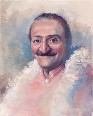 "2004 -#5 ; Meher Baba, 1956 - Oil - 20""x16"" - Courtesy of Gordon Campbell"