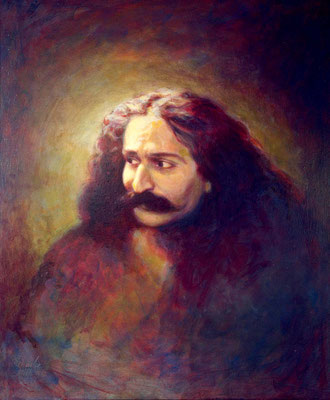 "1982  ; London 1931 - Oil - 30""x24"" - Avatar Meher Baba Trust, Baba's House, Meherazad"