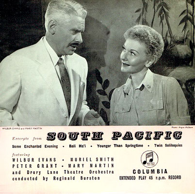 Mary Martin & Wilbur Evans from the London production recording LP cover