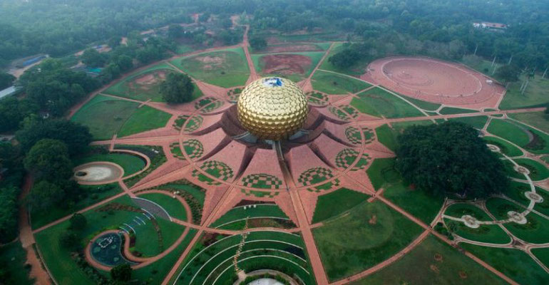 Aerial view of the property Auroville - close up