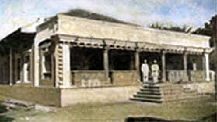 The Agiary / Temple soon after it opened in the mid-1850s. Image colourized by Anthony Zois.