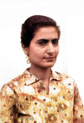 Meheru Irani1951.  Image coloured by Anthony Zois.