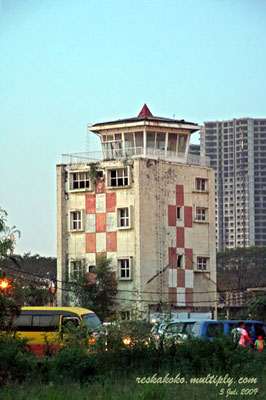 The old control tower at Kemayoran Airport, Jakarta, Indonesia