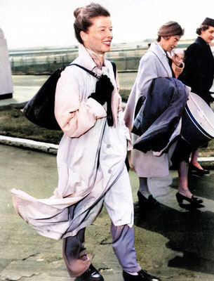 Kathreen Hepburn. Image colourized by Anthony Zois.