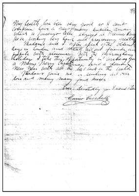 Enrico Cecchetti letter to Margaret Craske - 1925 ; page 2