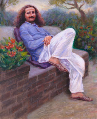 "1991 -#23  ; In the Garden - Oil - 64""x52"" - Courtesy of Arthur Trupp gifted to Peter Piazza"