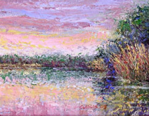 "2003-6 ; Long Lake Morning - Oil - 8""x10"""