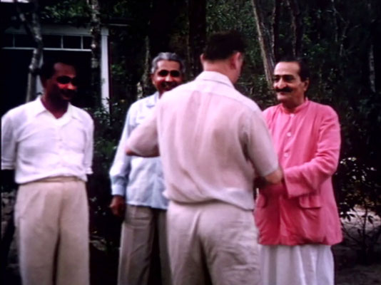 1956 : Meher Baba the Meher Abode compound.  Image captured by Anthony Zois from a film by Sufism Reoriented.