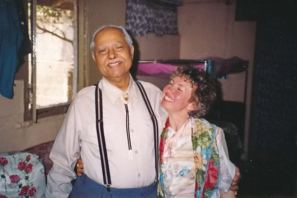 Bhau Kalchuri with Jasmine Ilas