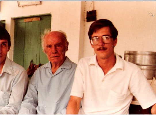 Francis with Peter Booth.