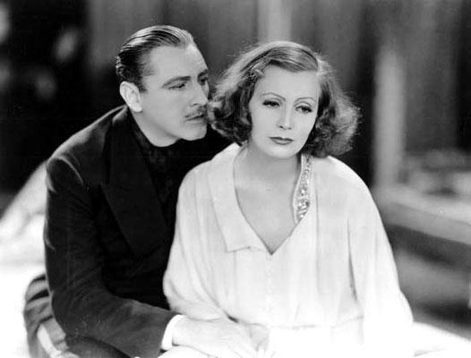 John Barrymore and Greta Garbo in Grand Hotel