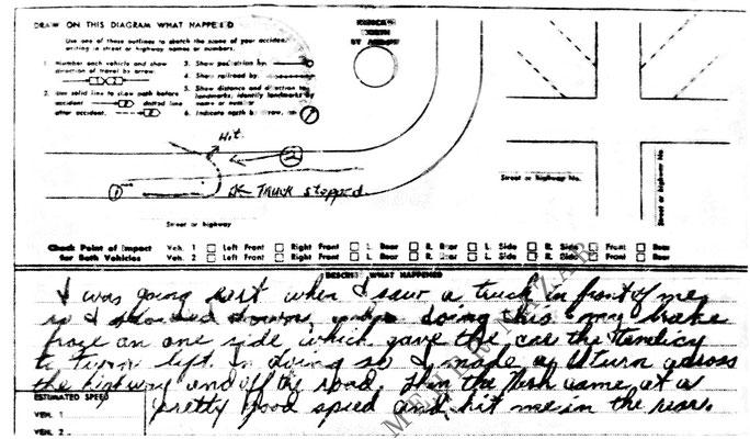 Page 2 of the insurance report. Palmieri's description.