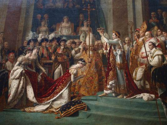 Napoleon crowning Josephine