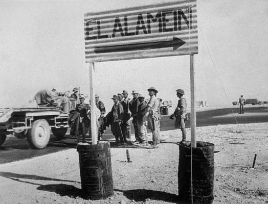 Road marker for El Alamein