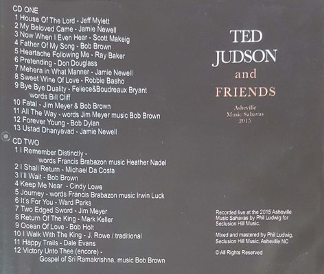 CD : 2016 - INSIDE COVER