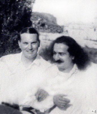 Herbert Davy with Meher Baba in Portofino, 1933
