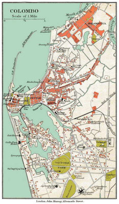 1910 map of Colombo