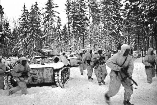 Soviet troops defending the city
