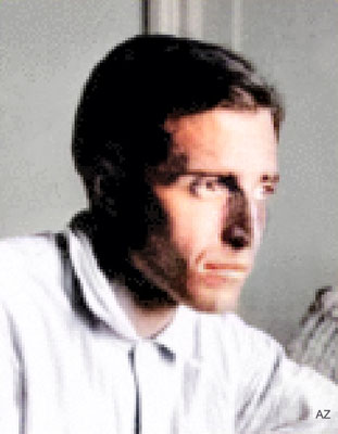 Roger Vieillard.  Image colourized by Anthony Zois.