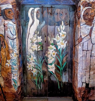Feb. 2021 - Inside view - Helen Dahm's painted doors