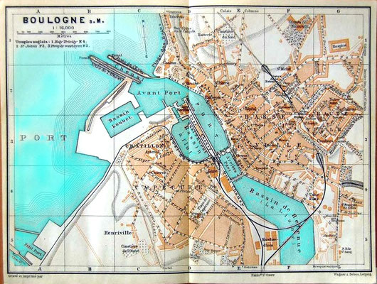 Map of the Port of Boulonge, France