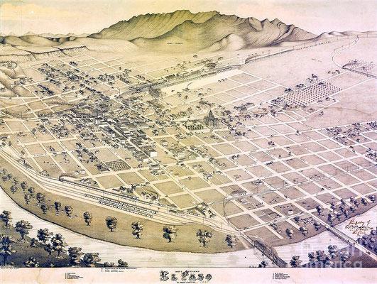 Old El Paso map - reproduction