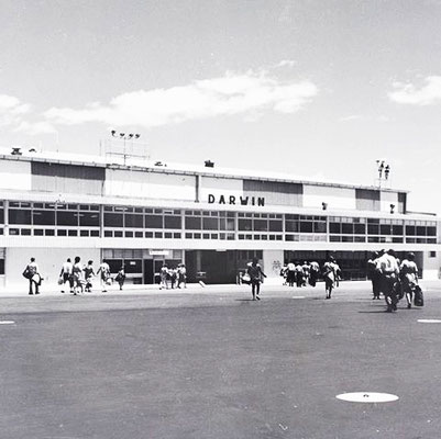 Darwin Airport during the 1970s.